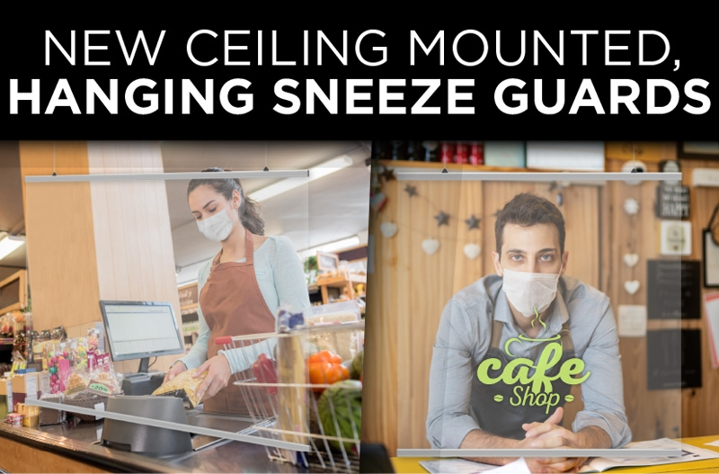 Hanging Sneeze Guards